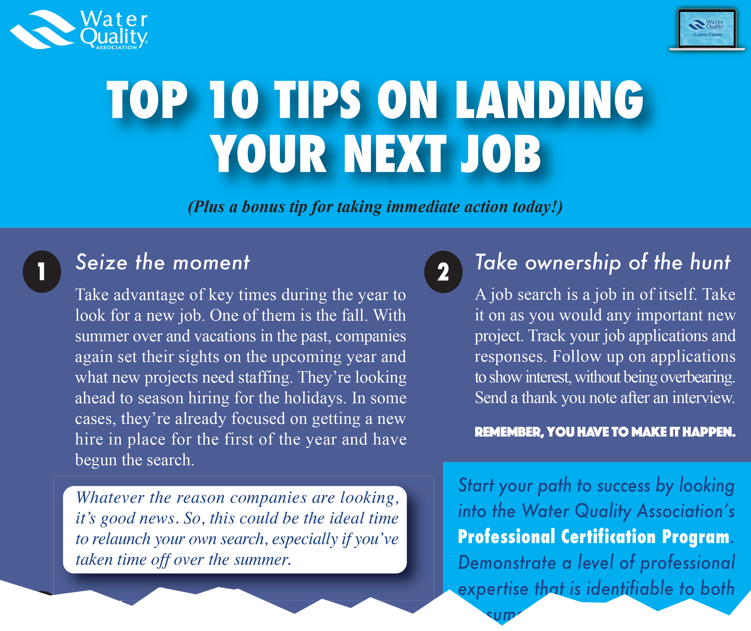 Top 10 Tips On Landing Your Next Job