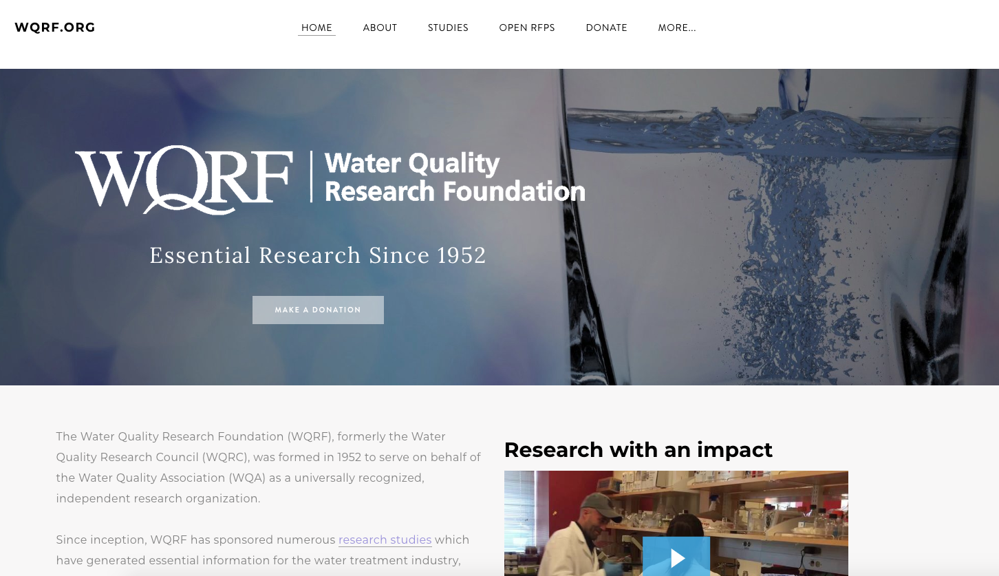 You can learn more about WQRF's history, its ongoing studies and how you  can contribute to its work on the foundation's website, wqrf.org.